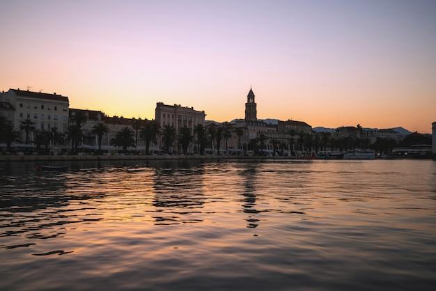 クロアチア、ダルマチアのスプリットの旧市街。
