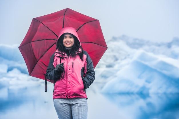 アイスランドの手配氷河ラグーンを旅行します。