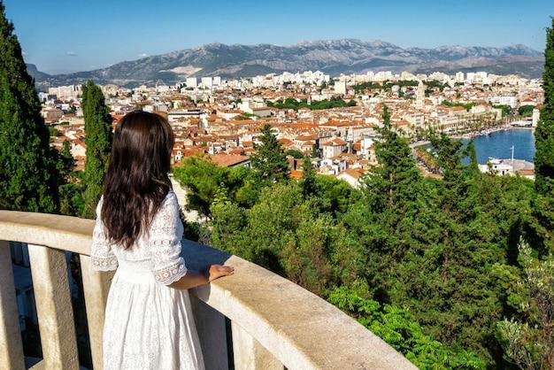 クロアチア、ダルマチアのスプリットの観光旅行。