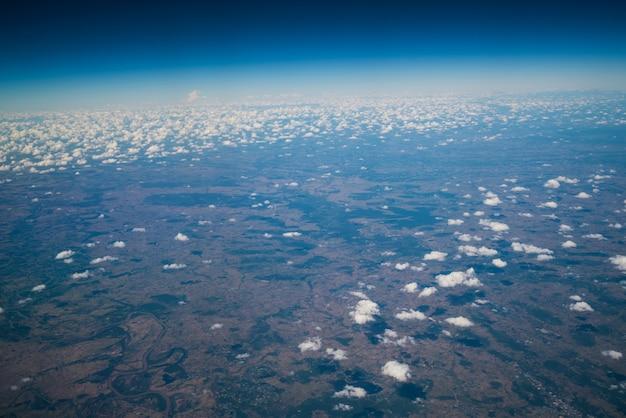 Земная поверхность с самолета