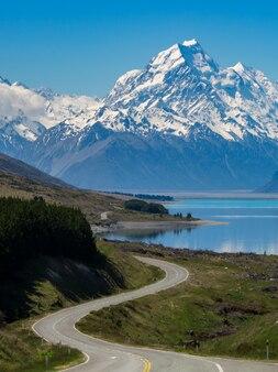 ニュージーランド、マウントクックへの道