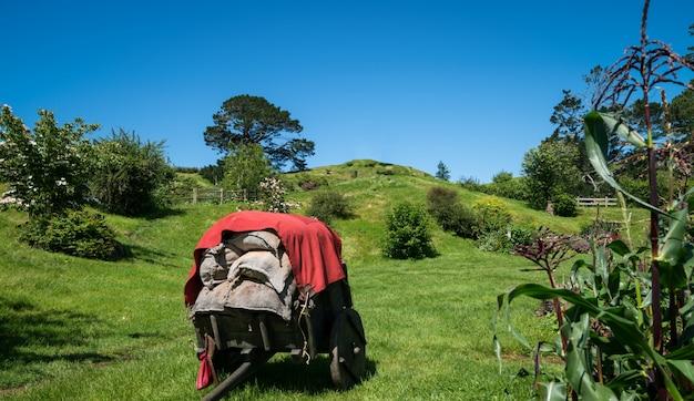 Деревня сад пейзаж и ферма