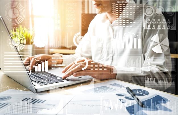 ビジネスと金融の概念のためのデータ分析