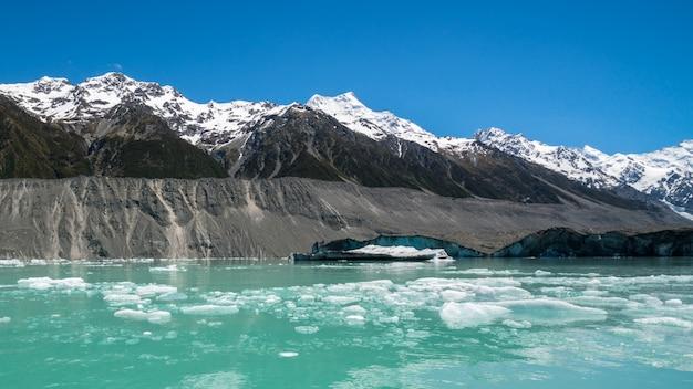 タスマン氷河、ニュージーランド