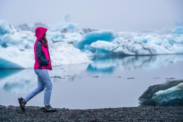 アイスランドの手配氷河ラグーンを旅します。