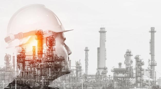 将来の工場とエネルギー産業のコンセプト。