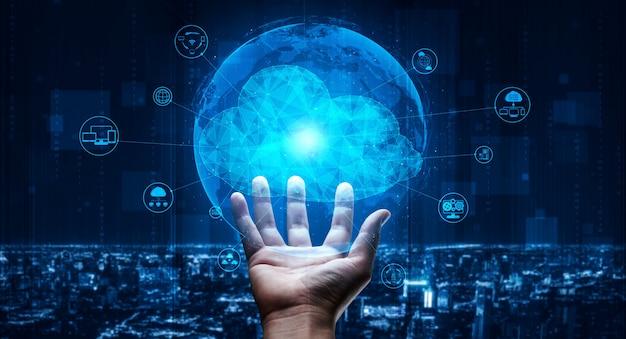 Технология облачных вычислений и онлайн-хранилище данных для концепции бизнес-сети.