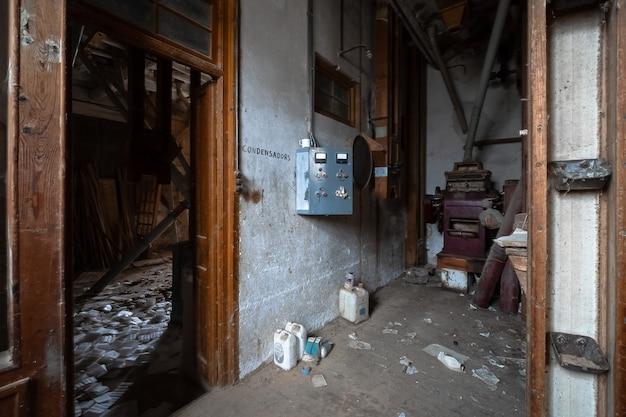 古い放棄された小麦粉工場