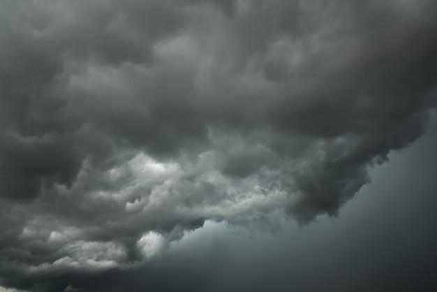 暗い空と黒い雲の動き