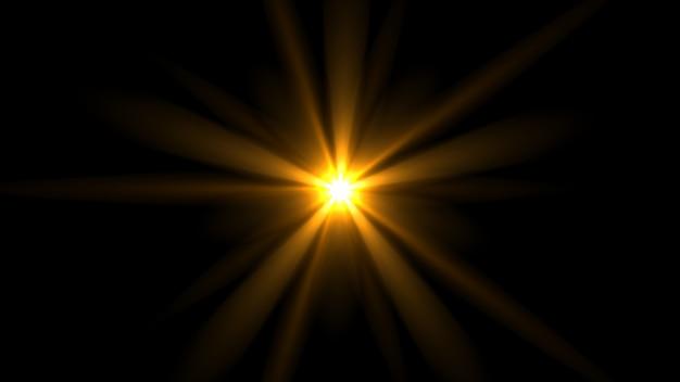 暗闇の中で輝く光