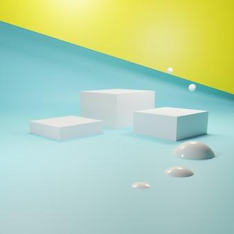 抽象的な幾何学的な表彰台