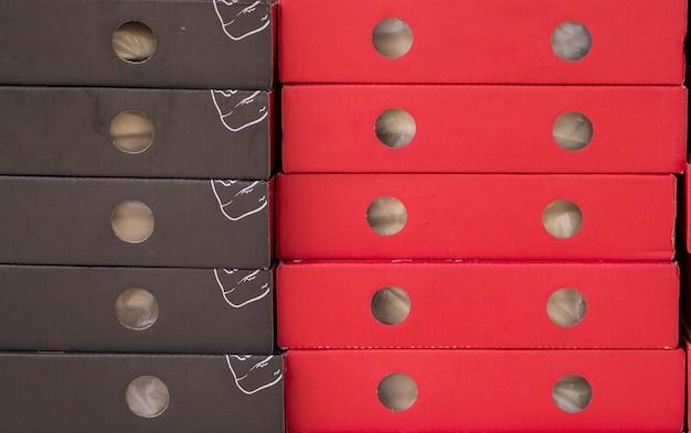 ピザパッケージのペーパーボックスのクローズアップ
