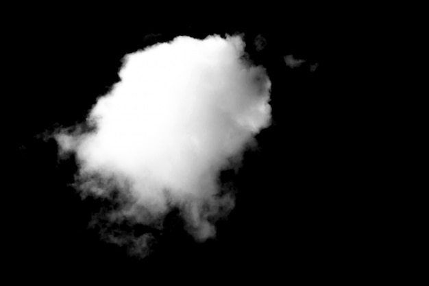 黒に白い雲を閉じる