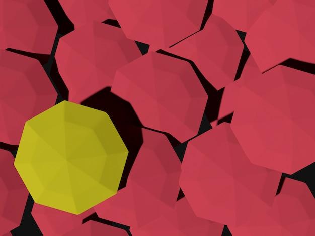 赤い傘と黄色の傘