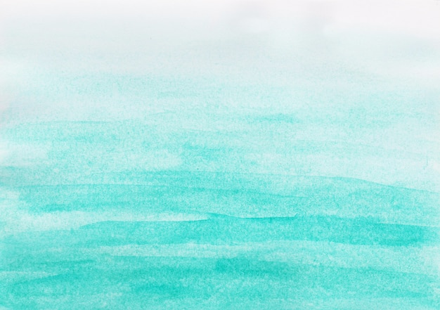 白い背景の上の抽象的な青い空水彩