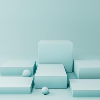 Синий продукт дисплей подиум