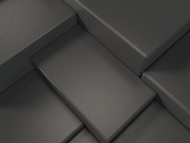 Черный продукт дисплей подиум, абстрактный фон