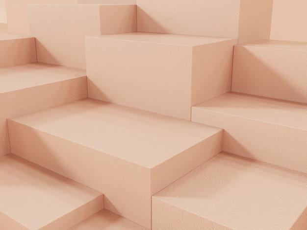 オレンゲ製品展示表彰台、抽象的な背景