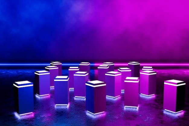 未来的な長方形の表彰台