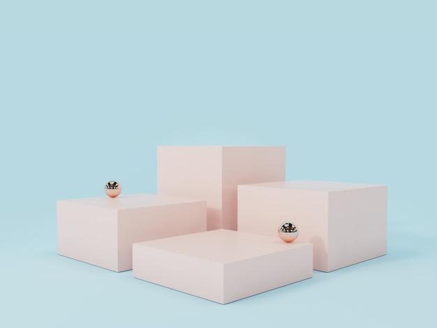 ピンク製品展示表彰台