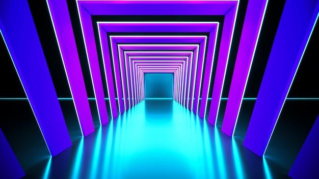 モダンな未来的なネオンの光の背景
