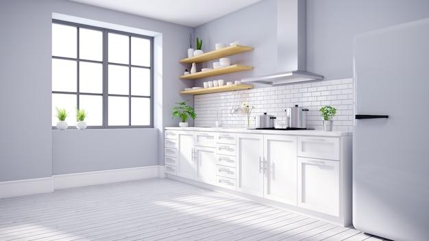 Современная кухня интерьер белой комнаты