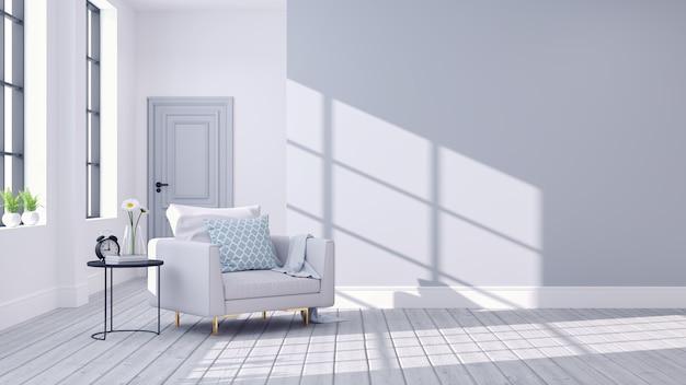 Современный скандинавский интерьер гостиной