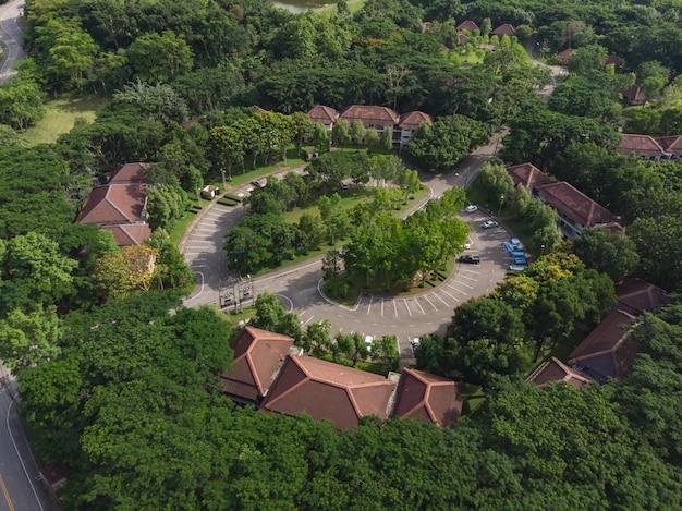 Жилой район для персонала в общественном парке