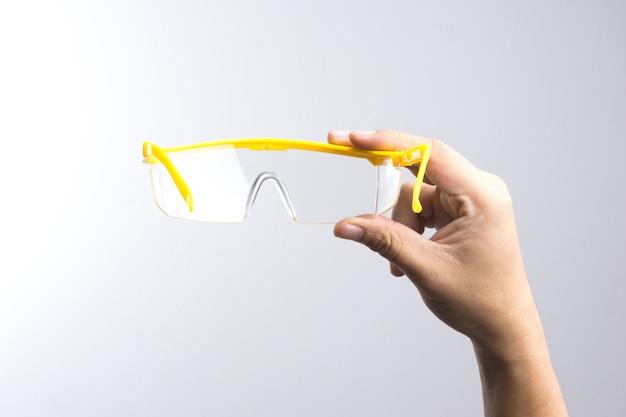 手持ちの安全眼鏡
