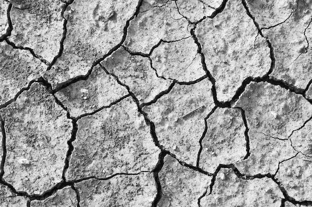 干ばつの間の乾いた割れた土壌の塵や土の背景