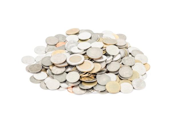 白い背景の上のコイン