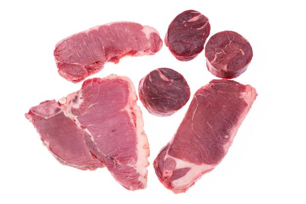 生の牛肉の分離