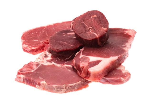 新鮮な生の牛肉ステーキの分離
