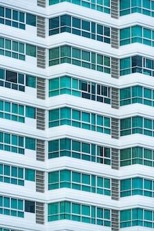 建物の窓の抽象的なテクスチャ背景