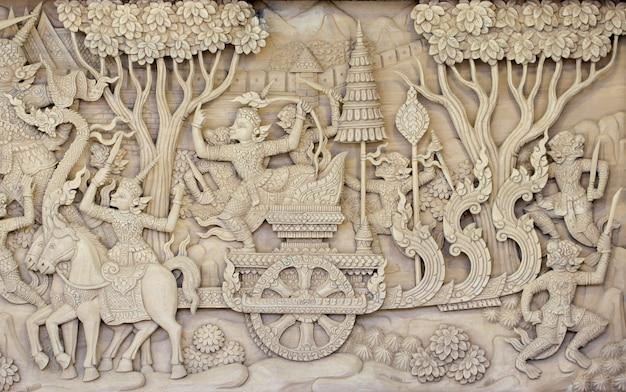 Скульптурный деревянный узор канок красивый