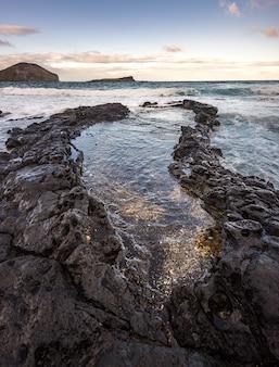 ビッグアイランド、ハワイアメリカの海の美しい海景