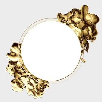 黄金の抽象的な最小限のテンプレートデザイン。