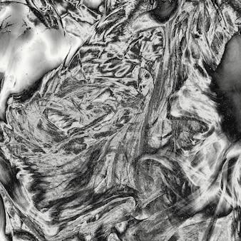 光沢のある銀の金属液体テクスチャ背景