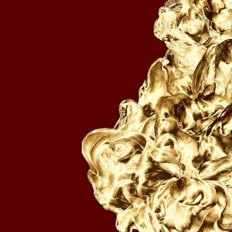 黄金の抽象的な最小限のフレーム