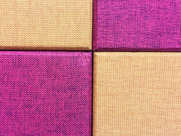 Текстура фиолетового и коричневого фона ткани