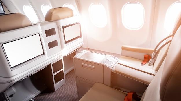航空機のビジネスクラスからの美しい景色