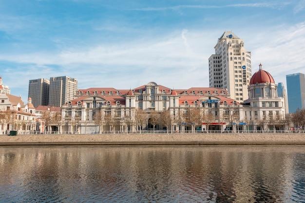 天津、中国のイタリアンスタイルの建物