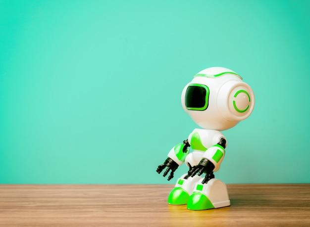 未来の背景ヴィンテージのロボット技術人的代用