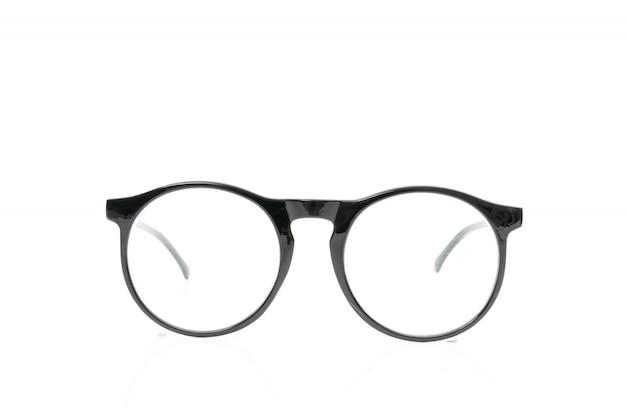 白地に黒のメガネ