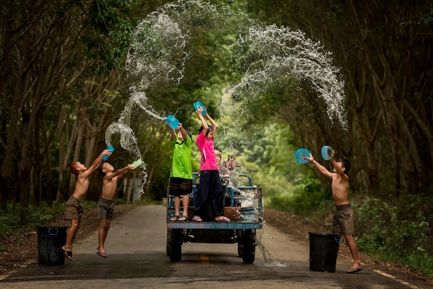 タイのソンクランフェスティバル