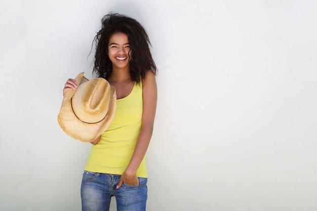女の子、帽子