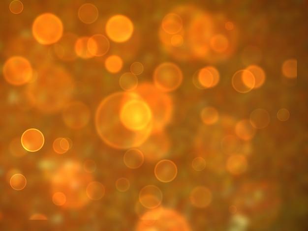 オレンジバブル寸法ボケぼかしの背景
