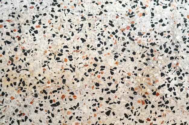 テラゾの床は小さな花崗岩の石の多色があります