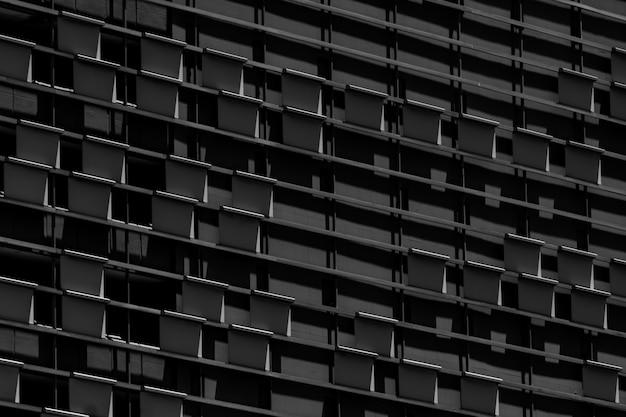 超高層ビルのガラス事務所ビルのクローズアップウィンドウ