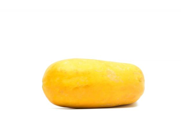 分離された熟したパパイヤの果実